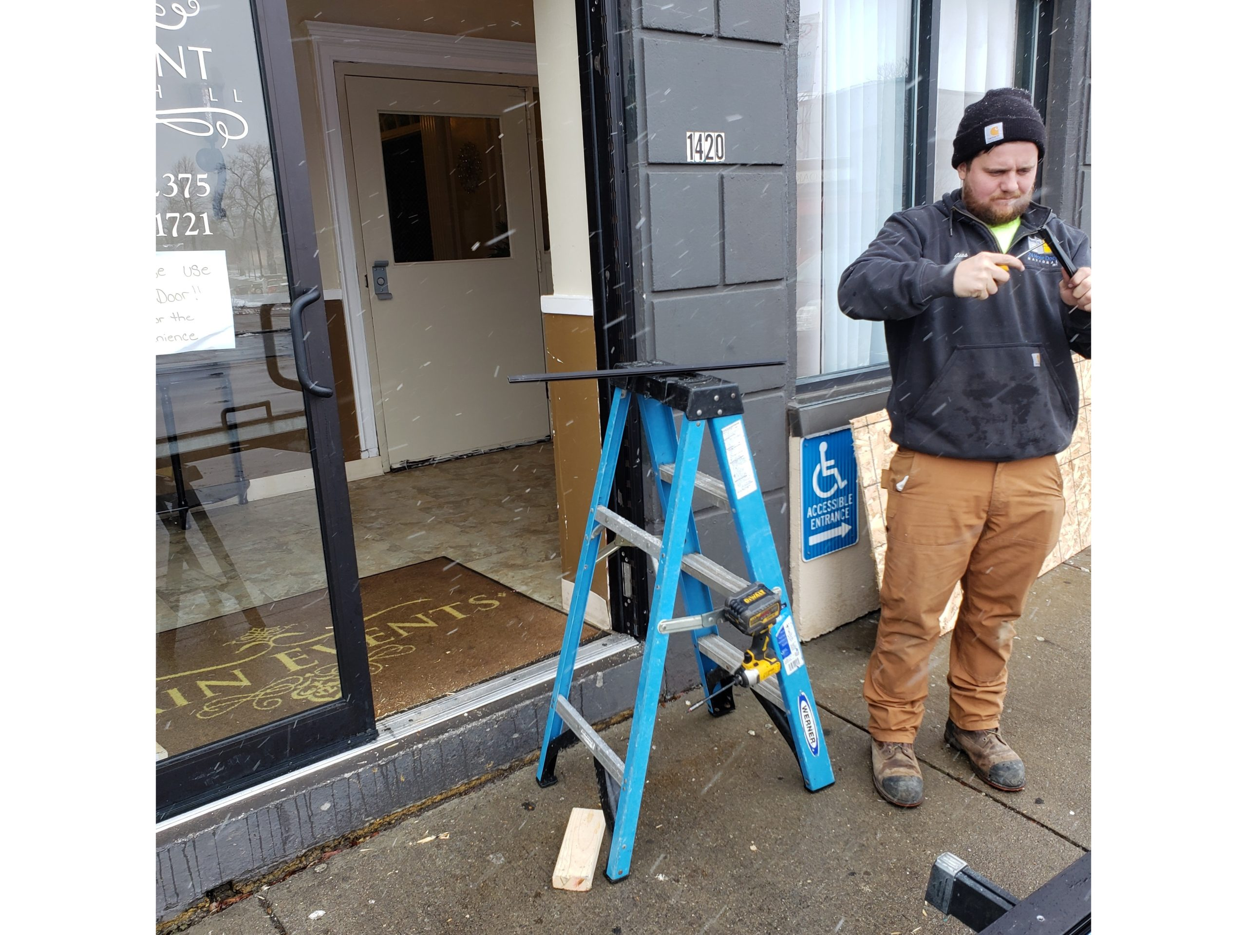 Commercial Storefront Glass Door Repair Buffalo Philadelphia Cincinnati